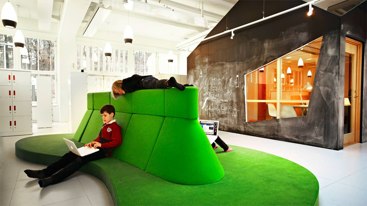 Break out spaces for group learning - © Kim Wendt / Rosan Bosch Studio