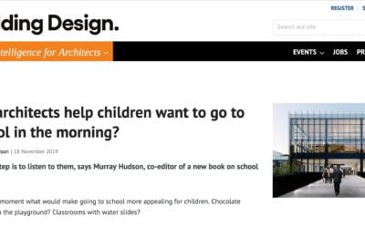 Can architects help children want to go to school in the morning?
