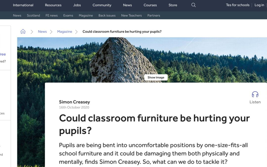Classroom furniture in the TES